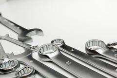 Инструменты ключа стальные для ремонта Стоковые Изображения