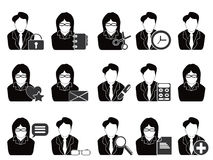 инструменты людей офиса иконы дела Стоковое Фото