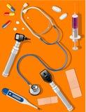 инструменты медицинских поставок Стоковое Изображение