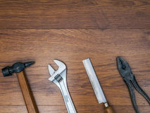 Инструменты на поле Стоковые Фото