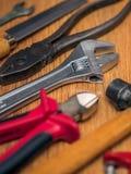 Инструменты на поле Стоковое Изображение