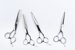 Инструменты парикмахера изолированные на предпосылке Стоковые Фотографии RF