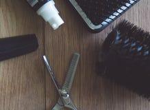 Инструменты парикмахера Стоковое фото RF
