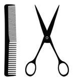 Инструменты парикмахерских услуг Стоковое фото RF