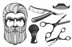 Инструменты парикмахерской бесплатная иллюстрация