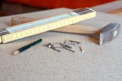 инструменты плотника Стоковые Изображения RF