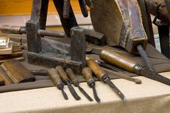 инструменты плотника Стоковое Изображение
