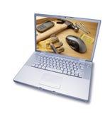 инструменты поддержки компьютера технические стоковое фото