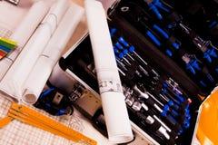 инструменты полного набора Стоковая Фотография RF
