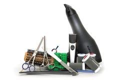 инструменты профессионала manicure hairdressing Стоковая Фотография RF