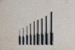Инструменты пунша вращающей оси установленные для извлекают штырь или защелку любого механика Стоковые Фото