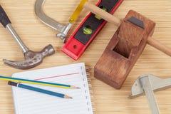 Инструменты плотника Стоковые Изображения