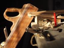 Инструменты плотника Стоковое Изображение RF