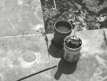 Инструменты работы на цементе Стоковое Изображение