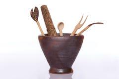 Инструменты древесины кухни Стоковое фото RF