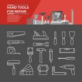 инструменты руки установленные Стоковые Изображения RF