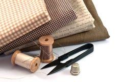 Инструменты руки шить Стоковые Фотографии RF