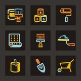 инструменты серии иконы Стоковые Изображения