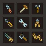 инструменты серии иконы Стоковые Фотографии RF