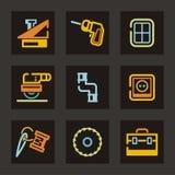 инструменты серии иконы Стоковая Фотография