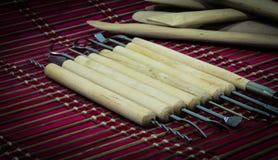 Инструменты скульптуры гончарни Стоковые Фото