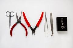 Инструменты строения Rda для vaping стоковая фотография rf