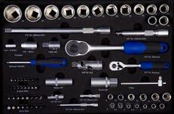 инструменты установленные инженерами Стоковое Изображение