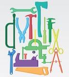 инструменты цвета иллюстрация вектора