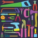 Инструменты цветов Иллюстрация вектора