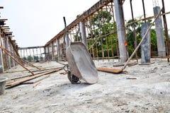 Инструменты, цемент строительной площадки Стоковые Фото