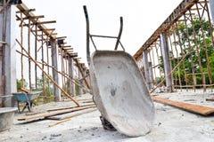 Инструменты, цемент строительной площадки Стоковое Фото