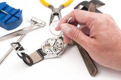 Инструменты часовщика стоковая фотография rf