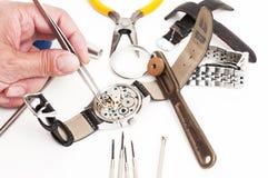 Инструменты часовщика стоковые изображения rf