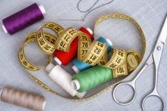 Инструменты для вышивки Стоковые Фото