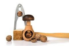 Инструменты для очищать грецких орехов Стоковые Изображения