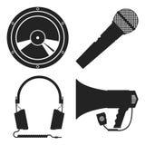 Инструменты для работы с звуком Стоковые Изображения