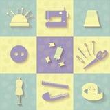 Инструменты для шить Стоковые Фото