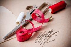 Инструменты для шить и handmade Стоковое Изображение
