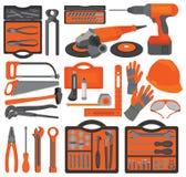 инструменты 1 руки корабля установленные иконами Стоковые Изображения RF