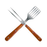 Инструменты BBQ и гриля также вектор иллюстрации притяжки corel иллюстрация вектора