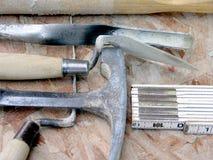 инструменты bricklayer мастерские стоковое изображение