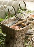 инструменты colonial корзины Стоковое фото RF
