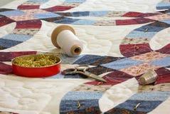 инструменты quilt выстегивая Стоковые Фотографии RF