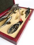 инструменты sommelier коробки стоковая фотография rf