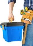 инструменты toolbox человека установленные Стоковые Изображения RF