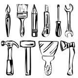 Инструменты vector комплект Стоковое Изображение