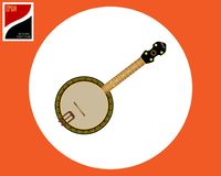Инструмент американца банджо иллюстрация вектора