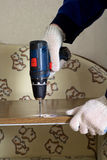 инструмент винта сверла электрический Стоковое Фото