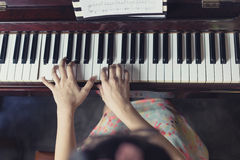 Инструмент джаза рояля музыкальный, конец вверх клавиатуры рояля Стоковые Изображения RF