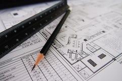 Инструмент дизайнера по интерьеру Стоковое Изображение RF